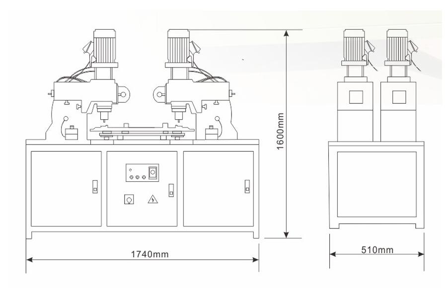 DF-A-3型气压铆接机结构尺寸图