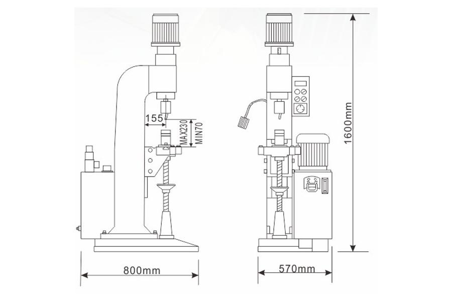 DF-B-7液压铆接机结构尺寸