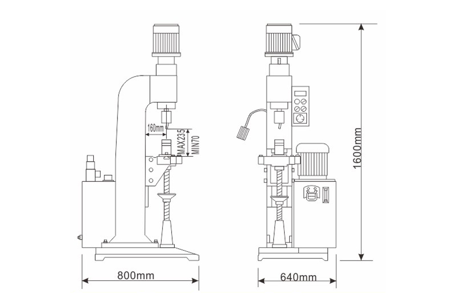 DF-B-2液压径向铆接机结构尺寸